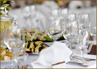 Elegant table setting for special event